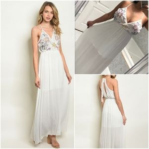 EMBELLISHED MAXI DRESS IN IVORY